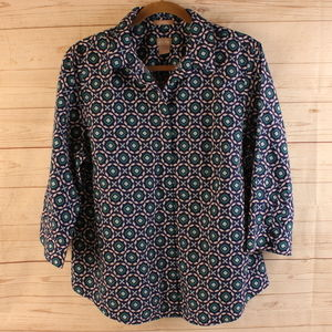 Chico's  2 L 12 Blouse No Iron Stain Shield Shirt
